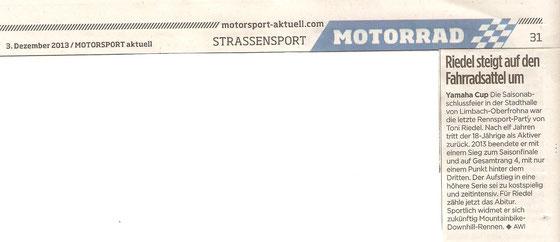 Motorsport aktuell 03.12.2013