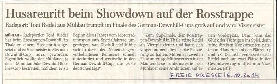 Freie Presse Rochlitz - 06.10.2014