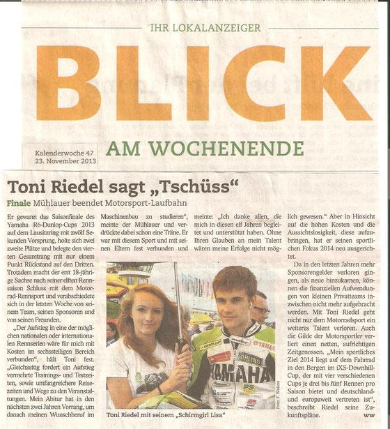 BLICK Chemnitz 23.11.2013 - ABSCHIED