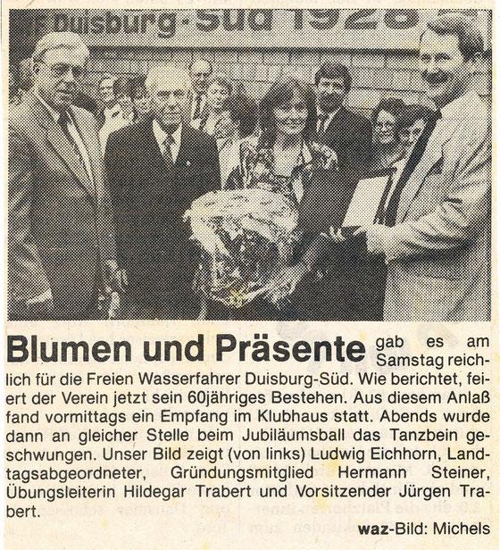 Sommer 1988, 60 Jahre Freie Wasserfahrer Duisburg-Süd