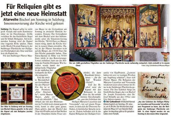 Allgäuer Zeitung vom 27. Januar 2012
