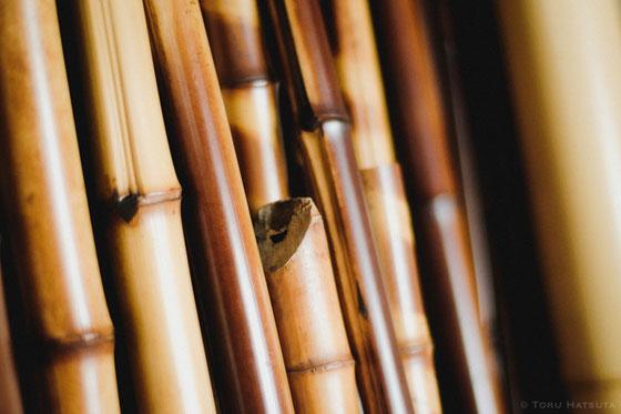 古材の煤竹。(Fujifilm X-Pro2)