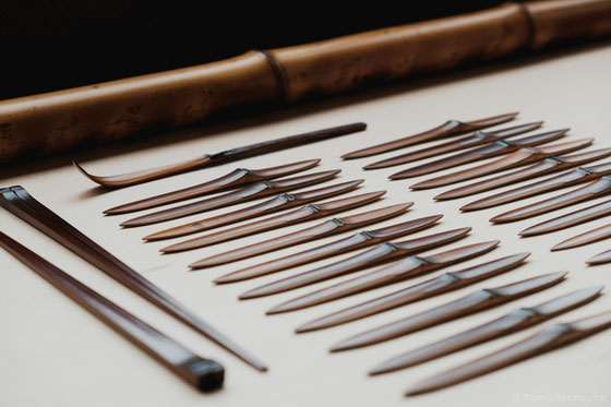 古材の煤竹からつくられる道具たち