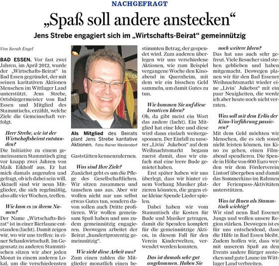 Wittlager Kreisblatt vom 13.03.2014