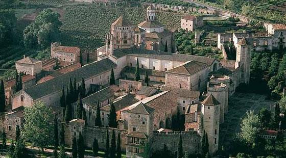 Panorámica del Monasterio de Poblet (Tarragona)