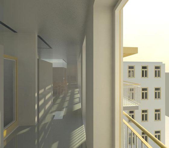 Wohngemeinschaft Selzergasse - Blick vom Eingang