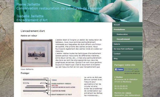 site atelier isabelle jaillette