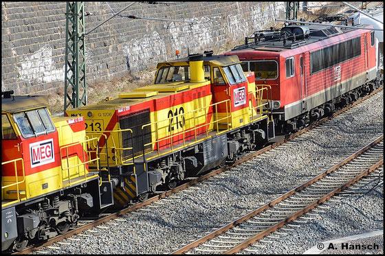 Ein Blick auf Zuglok 275 213-7 (MEG 213)