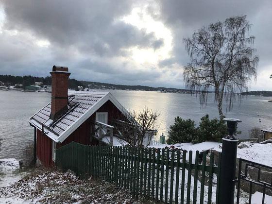 Winteraussicht in den Stockholmer Schären