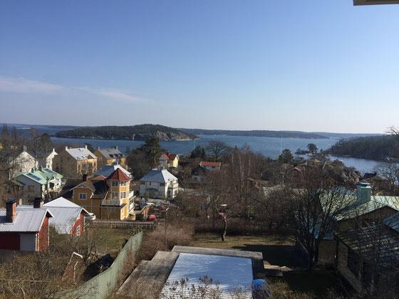 Malerische Aussichten in Stockholms Schären sind leicht zu finden.