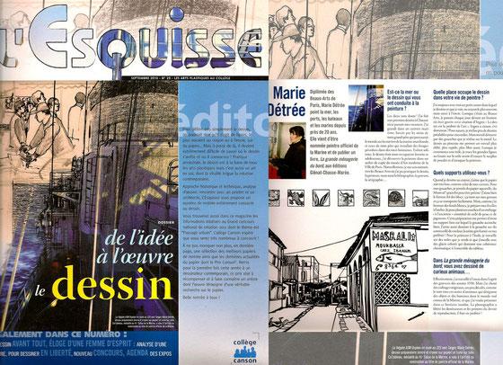 L'esquisse-septembre 2010 n°29 Rédaction:Bénédicte Magne