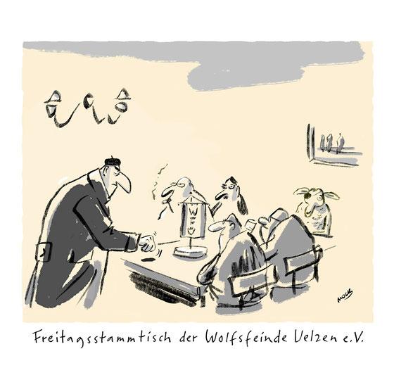 Cartoon von Mock zum Thema Wolf
