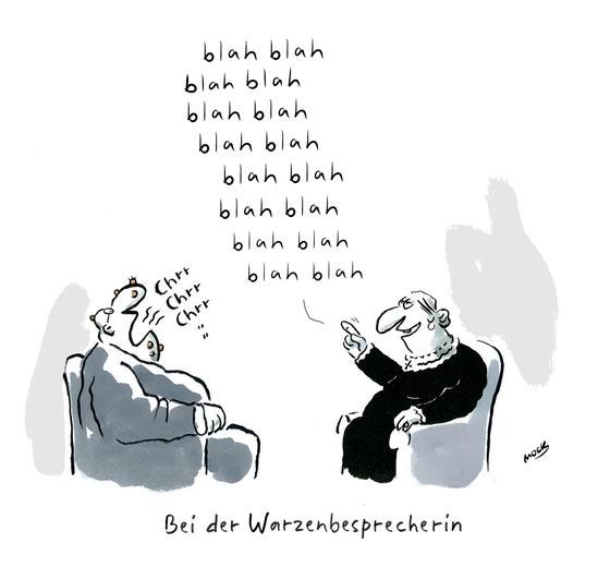 Esoterik Alternative Medizin Geistheilung Karikatur Cartoon