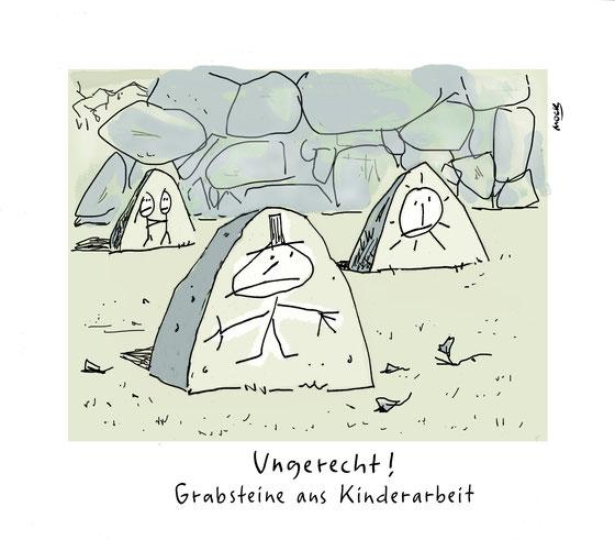 Cartoon von Mock zum Thema Kinderarbeit