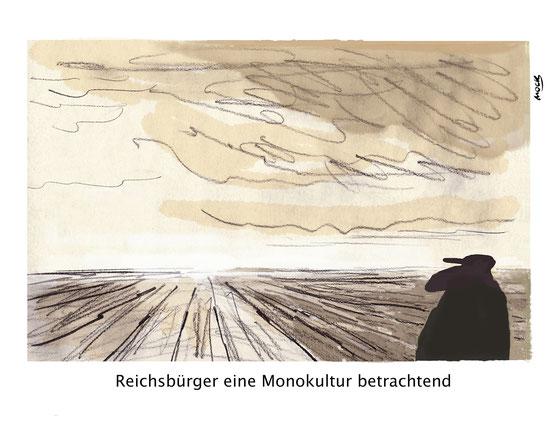 Reichsbürger Rechtsruck Bundesrepublik Personalausweis Karikatur