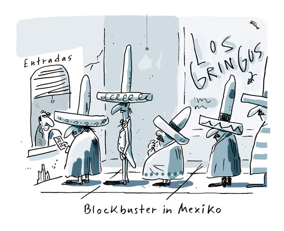 Cartoon von Mock zum Thema Blockbuster