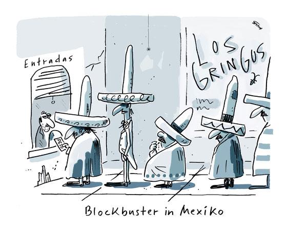 Cartoon von Mock zum Thema Blockbuster