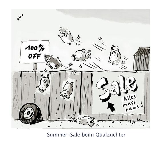 Cartoon von Mock zum Thema Tiere unde Qualzucht