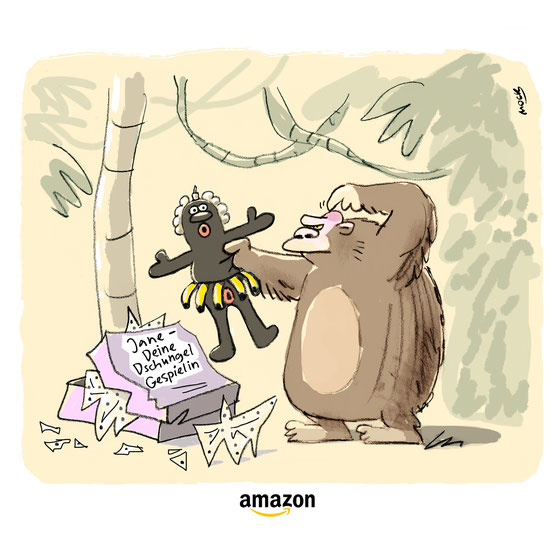 Cartoon amazon Online Handel Verbraucher
