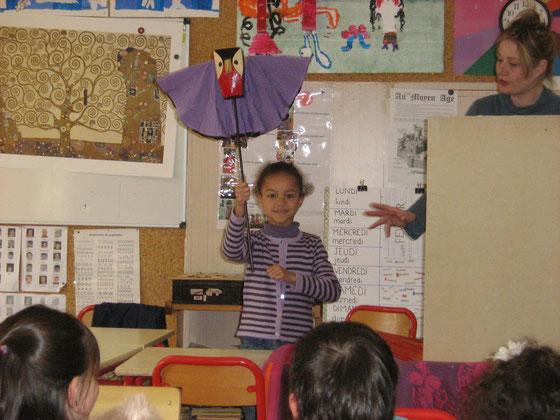 Dans la classe de Nathalie : Romane et Lili la Chouette