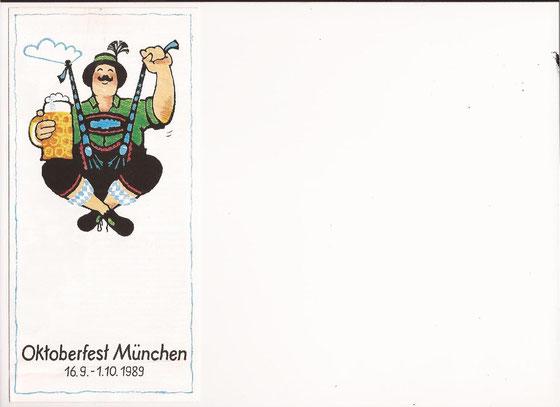 Plakatwettbewerb 1.Preis: Oktoberfest München 1989