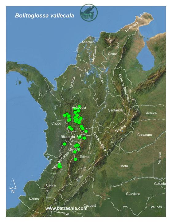 Lista y Mapas Anfibios de Colombia