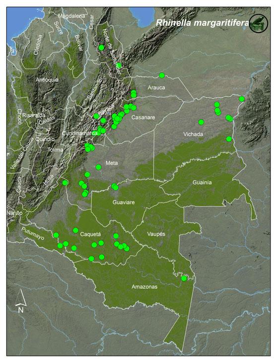 Nombres anteriores (sinonimia): Lista y Mapas Anfibios de Colombia
