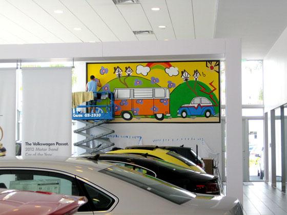 Heritage Mural at DEEL Volkswagen