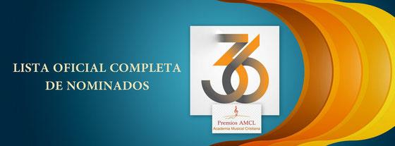 LISTA COMPLETA DE NOMINADOS A PREMIOS AMCL 2015