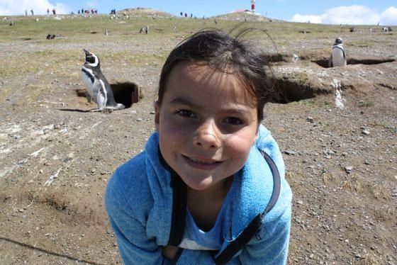 Miriam mit Pinguinen :-)