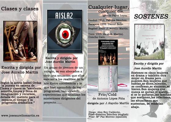 Carteles de algunas de las obras representadas por el Proyecto Simprota