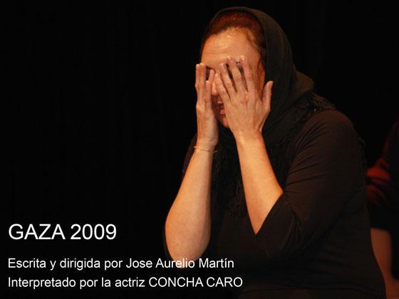 Cartel de la obra Gaza 2009