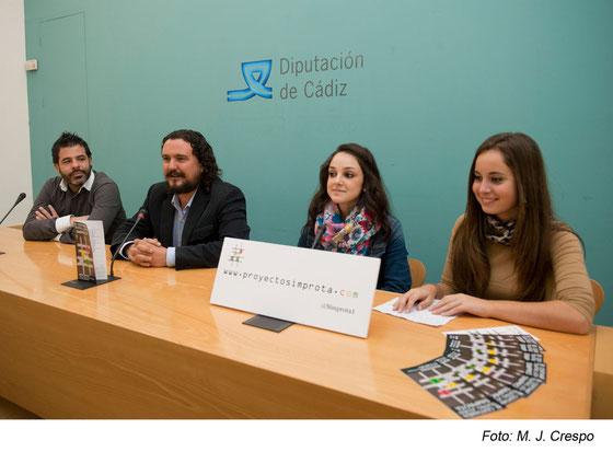 De izquierda a derecha: Jose Aurelio Martín, Manuel Fernando Macías, Sandra Berrocal y Davinia Calderón