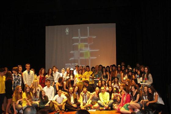 Participantes del II CERTAMEN SIMPROTA DE TEATRO JOVEN. Abril de 2013. Gran foto de: ALBERTO SÁNCHEZ