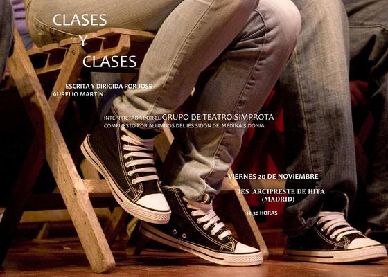 Cartel de la obra Clases y Clases
