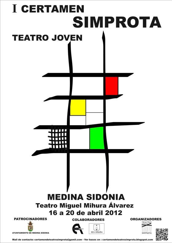Cartel de la I edición del Certamen Simprota de Teatro Joven