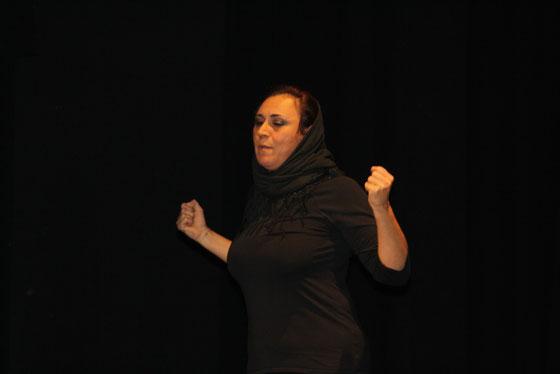 Gaza 2009, representada por Concha Caro, escrita y dirigida por Jose Aurelio Martín