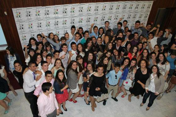 Miembros del proyecto Simprota en la Clausura del I Certamen Simprota de Teatro Joven, mayo 2012