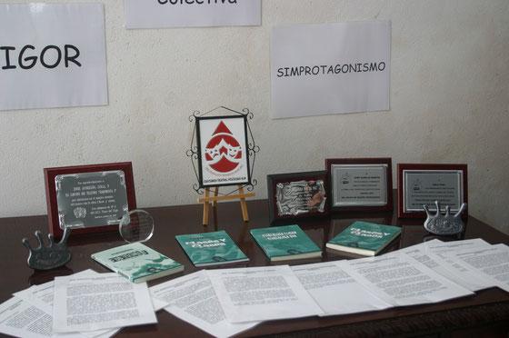 Exposición de materiales de la Asociación Simprota en el teatro Miguel Mihura Álvarez de Medina Sidonia, Cádiz