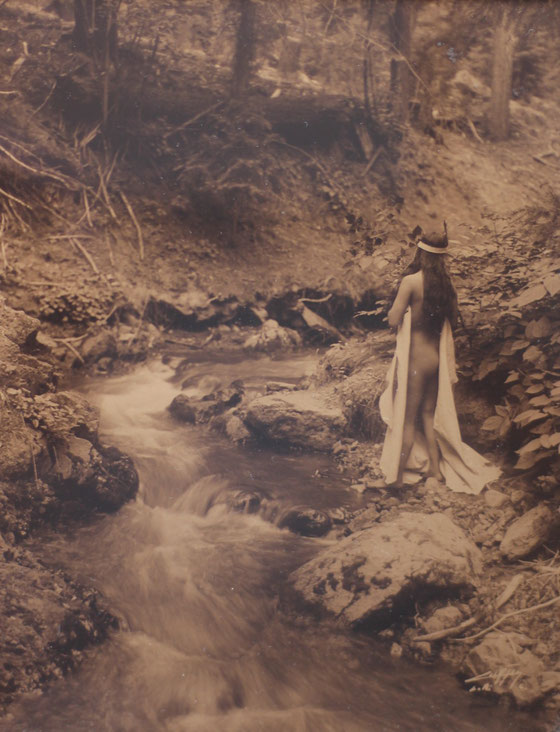 One of the rare nude photo of a Native American girl taken by Edward S. Curtis