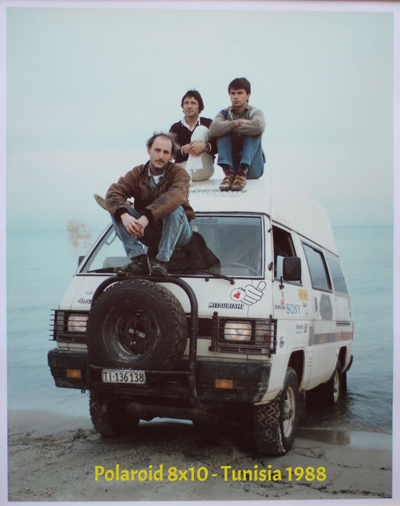 Lou Di Giorgio, Polaroid world tour wiht the Mitsubishi L300 4x4 Camper