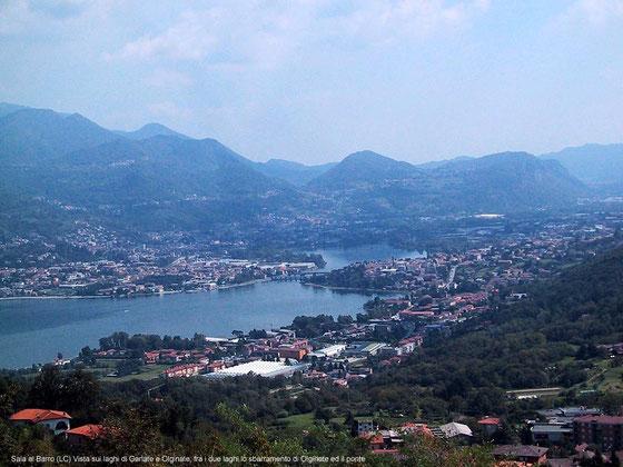 L'Adda forma i laghi di Garlate e Olginate