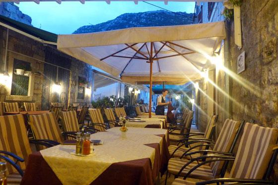 Austern Fischrestaurant BAKUS Ston Kroatien