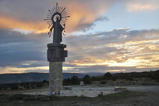 Vista del monumento al atardecer