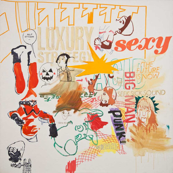 JUDAS ARRIETA Sexy Big Man  150x150cm  acrylic & marker on canvas  2012