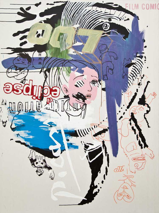 Eclipse. 200x145cm. Mixed media on canvas. 2009.