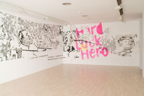 Hard Luck Hero. Acrylic & markers in wall. Sala de Arte Contemporáneo de Tenerife 2007