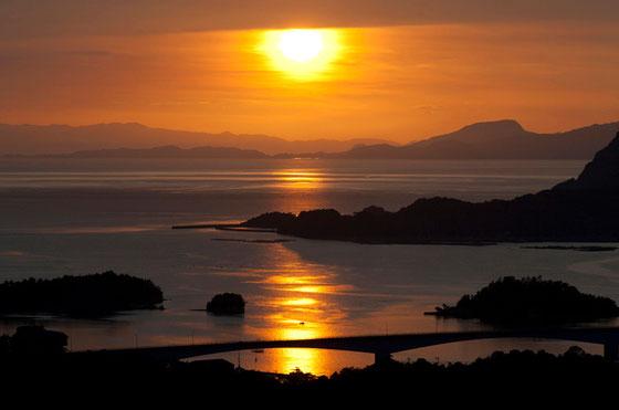 高舞登山の夕陽写真