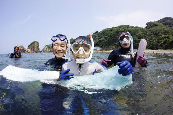お子さんは10歳前後からダイビングできます。夏休みのレジャーに最高!