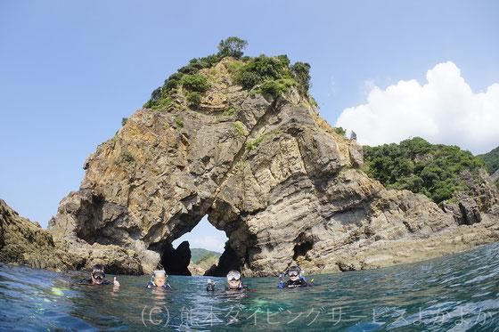 妙見ヶ浦ゾウさん岩の風景